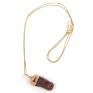 Natural uncut sapphire 14k rose gold