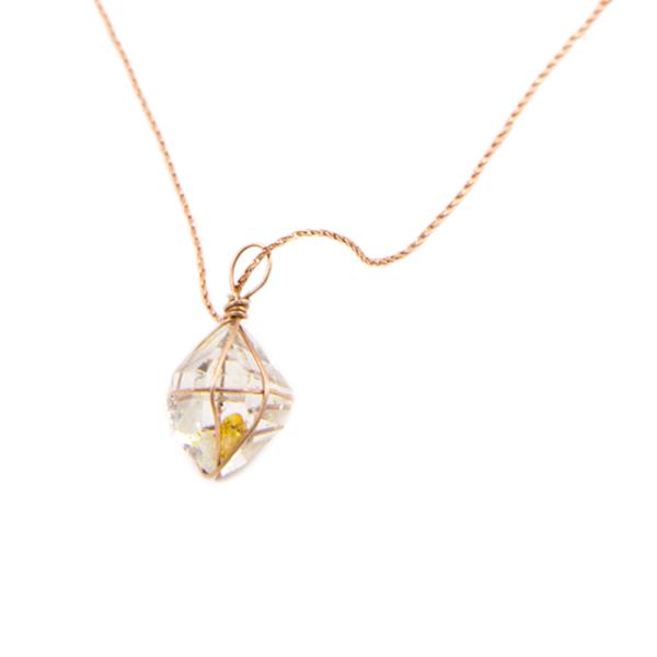 14k rose gold herkimer diamond