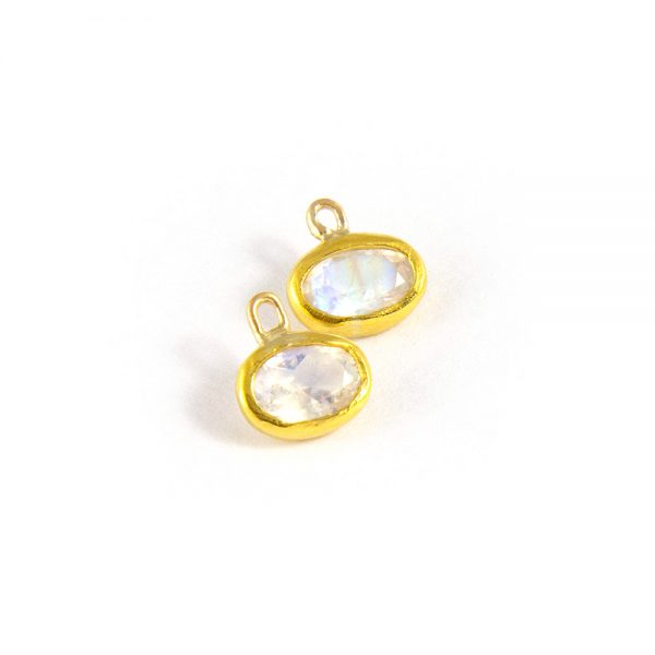 24k gold and moonstone earrings