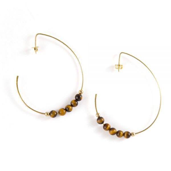 14k gold with tiger eye beads
